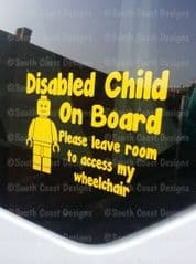 Lego - Disabled Child On Board - Wheelchair Access