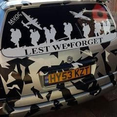 Lest We Forget - Astra Van Back Door Sticker (Any Year)