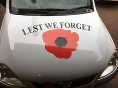 Lest We Forget - Bonnet Decal