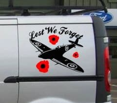 Lest We Forget Decal (Discount for 2)