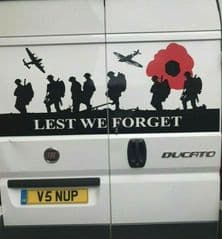 Lest We Forget - FIAT DUCATO  Back Door Sticker (Any Year)