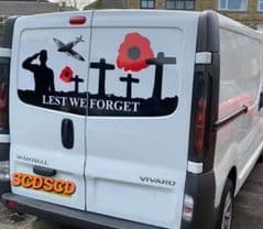 Lest We Forget Salute - TVP Back Door Sticker