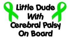 Little Dude With Cerebral Palsy On Board  - Green Ribbons