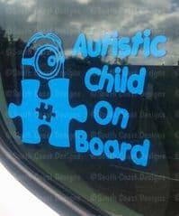 Minion Sticker With Jigsaw - Autistic Child On Board