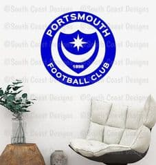 NEW Portsmouth FC - Pompey Wall Sticker With Or Without Name
