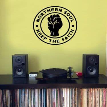 Northern Soul - Keep The Faith Logo - Wall Sticker
