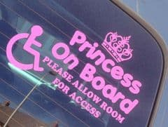 Princess On Board Please Allow Room For Access