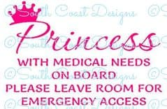 Princess With Medical Needs On Board