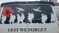 Rear Door - Lest We Forget - Transporter VW T2 T 3 T4 T5 (MADE FOR ANY MODEL)