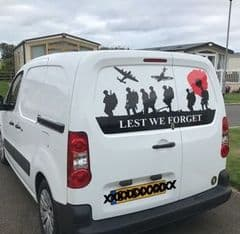 Rear Doors - Lest We Forget - Citroen Berlingo (All years And Models)