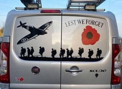 Rear Doors - Lest We Forget Large Plane - Fiat Scudo (All years And Models)