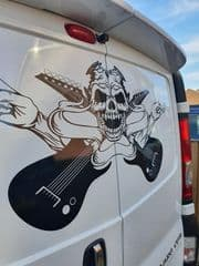 Skull With Guitars -  TVP Back Doors Decal Sticker