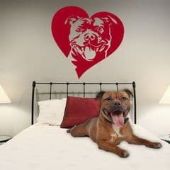 Staffie/Staffy Sticker Deal - Heart, Name & Paw Prints - Choice Of Colour