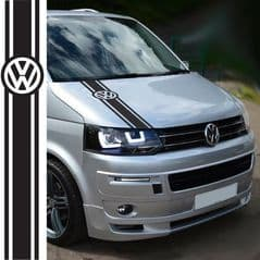 T2 T3 T4 - T5 T6  VW Campervan Graphic Decal Logo Bonnet Stripe