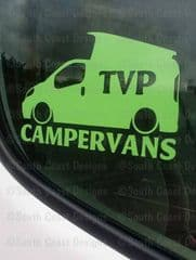 TVP CAMPERVANS Facebook Group Sticker - Design 1 With Pop Top