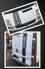 Van Sticker Set Front & Back Stripe - Vivaro Trafic Primastar - Choice Of Colour - TVP