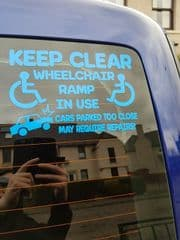 Wheelchair Ramp Warning Sticker - Design 1