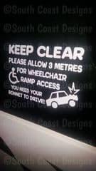 Wheelchair Ramp Warning Sticker - Design 2