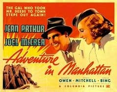 Adventure in Manhattan 1936 DVD - Jean Arthur / Joel McCrea