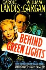 Behind Green Lights 1946 DVD - Carole Landis / William Gargan
