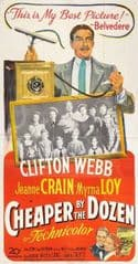 Cheaper by the Dozen 1950 DVD - Clifton Webb / Jeanne Crain