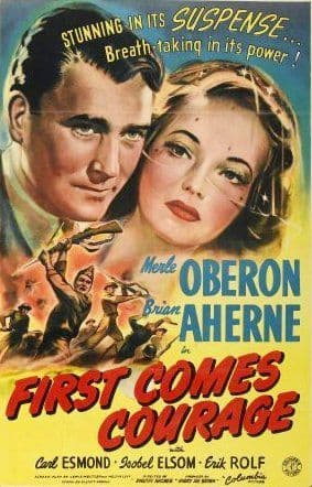 First Comes Courage 1943 DVD - Merle Oberon / Brian Aherne
