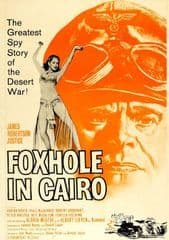 Foxhole in Cairo 1960 DVD - James Robertson Justice / Adrian Hoven