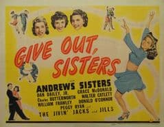 Give Out Sisters 1942 DVD - Laverne Andrews / Patty Andrews