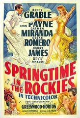 Springtime in the Rockies 1942 DVD - Betty Grable / Carmen Miranda