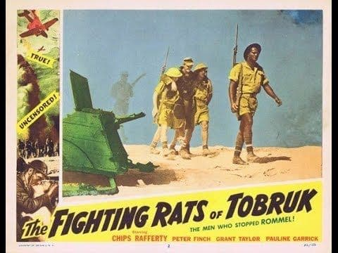 The Fighting Rats of Tobruk 1944 DVD - Grant Taylor / Peter Finch