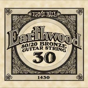Ernie Ball Earthwood Acoustic 80/20 Bronze Single Ball End Strings<br>30-48</br>