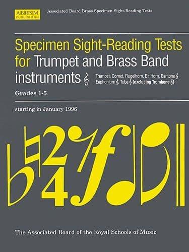 ABRSM Specimen Sight Reading Trumpet Grades 1-5