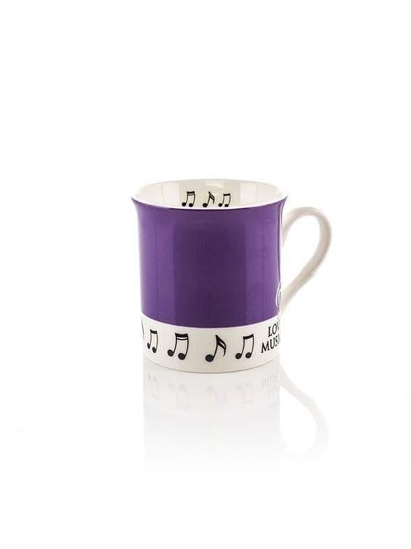 Colour block mug - purple