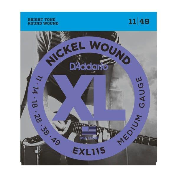 D'Addario XL Nickel Wound Electric Guitar Strings <br>11-49