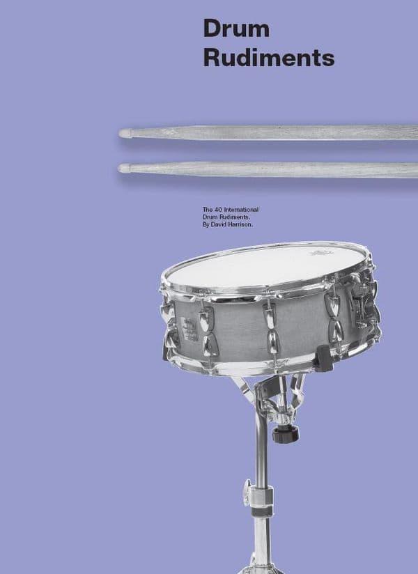 Drum Rudiments Chart