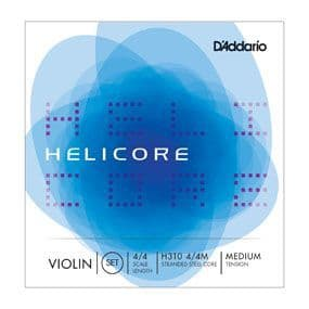 Helicore Violin String Set, 4/4 Scale, Medium Tension