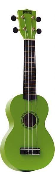Mahalo Soprano Ukulele inc Aquila Strings - Green