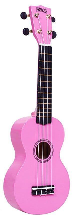 Mahalo Soprano Ukulele inc Aquila Strings - Pink