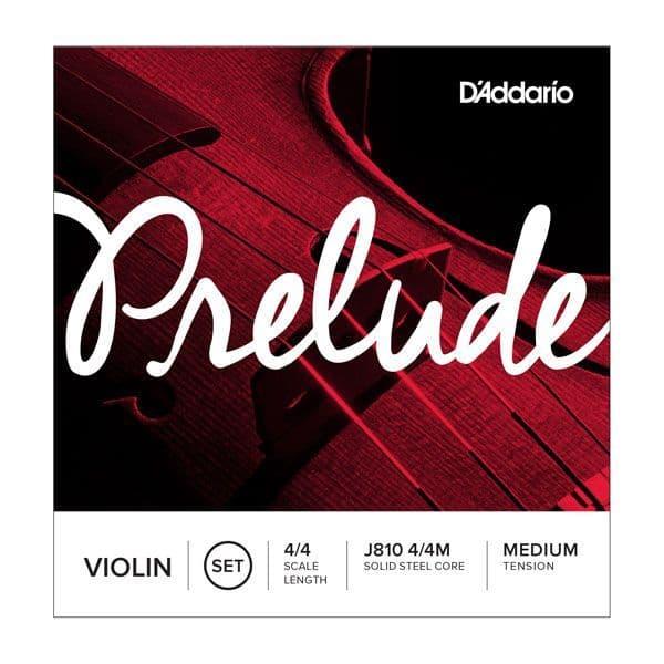 Prelude Violin String Set, 4/4 Scale, Medium Tension