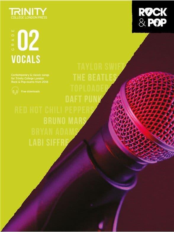 Trinity Rock & Pop 2018 Vocals Grade 2