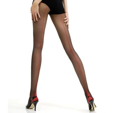 Jonathan Aston Vintage Contrast Seam and Heel Tights