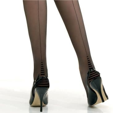 Jonathan Aston Zebra Heel Seamed Tights