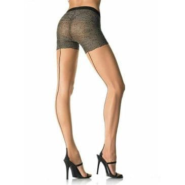 Leg Avenue Lace Panty Back seam Tights
