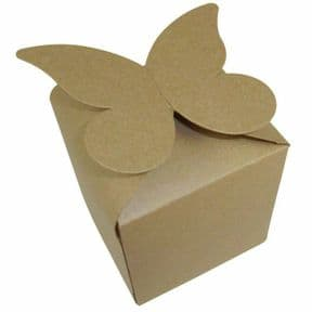 Kraft Large Butterfly Top Muffin / Cupcake Box 80mm x 80mm x 80mm