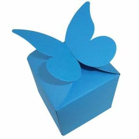 Ocean Blue Large Butterfly Top Muffin / Cupcake Box 80mm x 80mm x 80mm