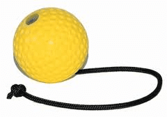 Euro-Joe Yellow Super Ball on Rope