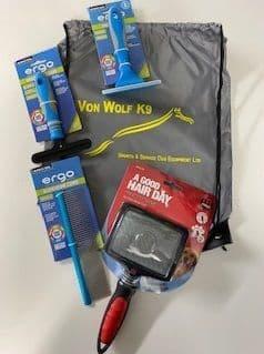 Grooming kit in a bag
