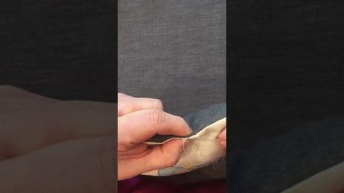 Ladder Stitch For Closing The Gap On Your Cushion Tutorial