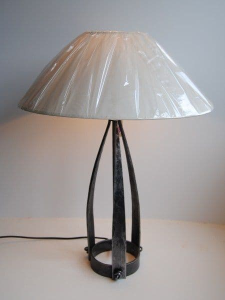 Belltrees Forge wrought iron table lamp Large Jacobean table lamp