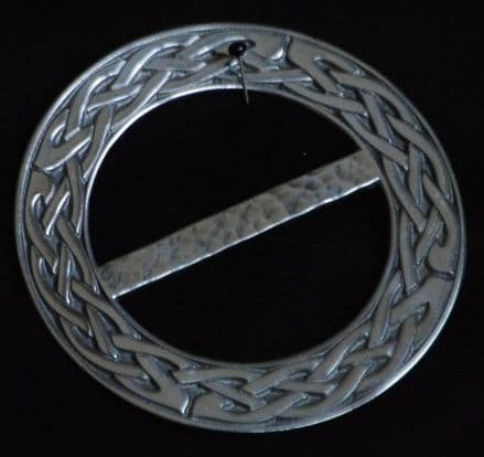 """Extra Large Ladycrow  Pewter Scarf Ring """"Celtic Knot """""""